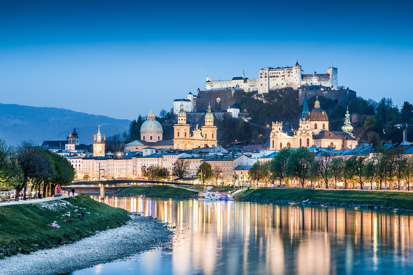 View of Mozart's city, Salzburg